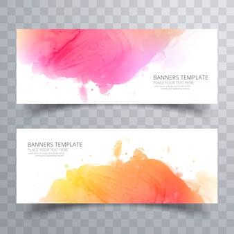 Streszczenie kolorowy akwarela nagłówka scenografia