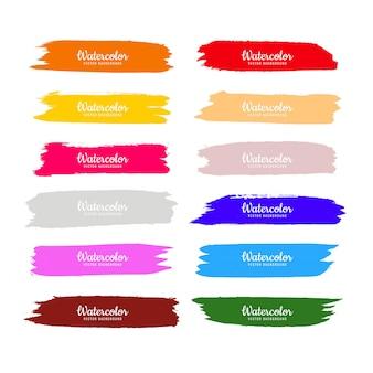 Streszczenie kolorowy akwarela ręcznie rysować uderzeń ustawić projekt