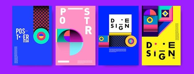 Streszczenie kolorowy kolaż szablon projektu