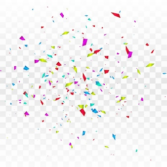 Streszczenie kolorowy konfetti na białym tle