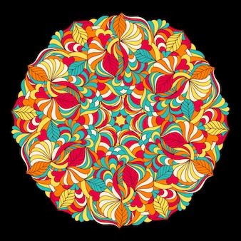Streszczenie kolorowy mandali