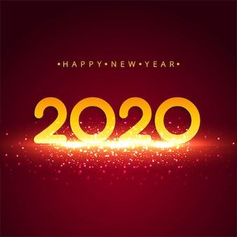 Streszczenie kolorowy nowy rok 2020 kartkę z życzeniami