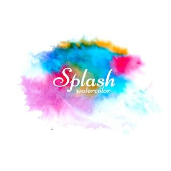 Streszczenie kolorowy projekt akwarela splash