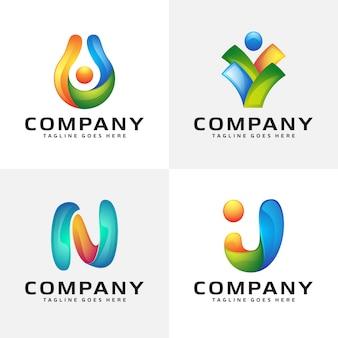 Streszczenie kolorowy projekt logo