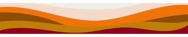 Streszczenie kolorowy sztandar fal kolorów. szablon ulotki, tło strony internetowej