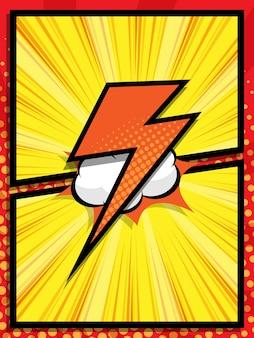 Streszczenie komiks pop-art kreskówka tło wektor ilustracja