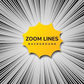 Streszczenie komiks ruchu i styl pop-artu z żółtym kolorem.