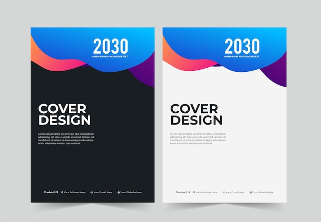 Streszczenie korporacyjnego projektu okładki książki a4 oraz szablonu raportu rocznego i magazynu