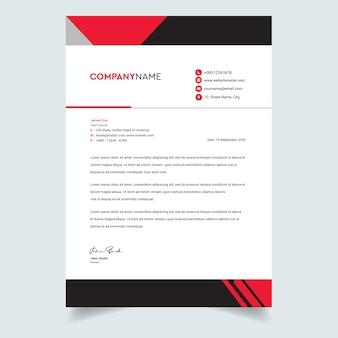 Streszczenie korporacyjnych profesjonalny papier firmowy szablon projektu