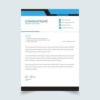 Streszczenie korporacyjnych profesjonalny papier firmowy szablon
