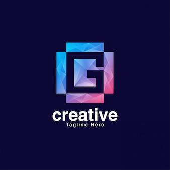 Streszczenie kreatywny litera g logo szablon projektu