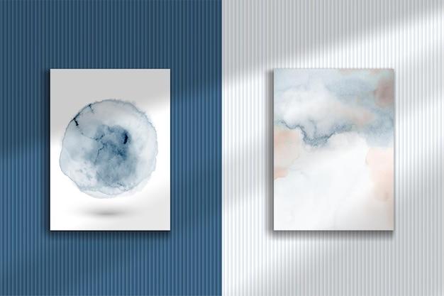 Streszczenie kreatywnych akwarela ręcznie malowane zestaw ilustracji.
