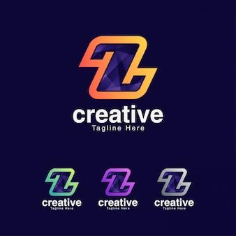Streszczenie kreatywnych list z logo szablon projektu