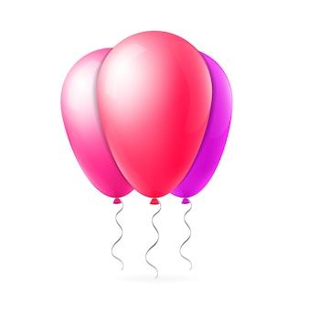 Streszczenie kreatywnych lot balonem ze wstążką zestaw