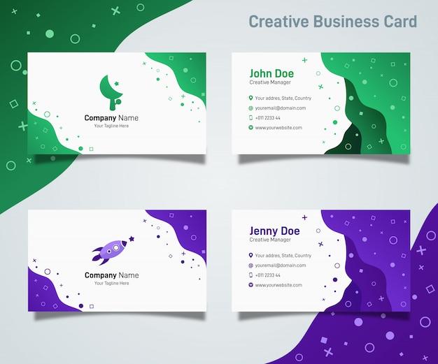 Streszczenie kreatywnych nowoczesny gradientu proste płynne wizytówki