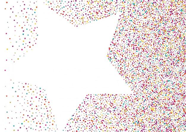 Streszczenie kropkowane tło z gwiazdą