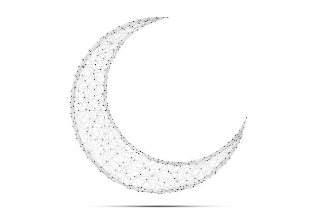 Streszczenie księżyc arabski wielokątne