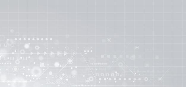 Streszczenie kształtu geometrii i linii na białym tle