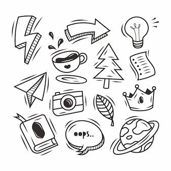 Streszczenie kulas ręcznie rysowane doodle
