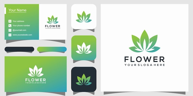 Streszczenie kwiat róży logo i wizytówkę