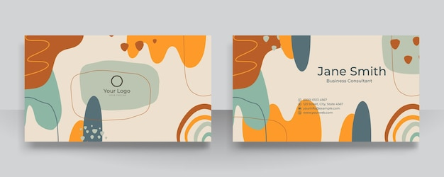 Streszczenie kwiatowy organiczne kształty tło dla wizytówki. współczesne nowoczesne ręcznie rysowane ilustracji wektorowych.
