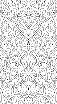 Streszczenie kwiatowy ornament. średniowieczny wzór stylizowany.