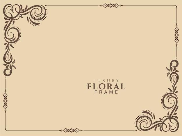 Streszczenie kwiatowy rama tło wektor