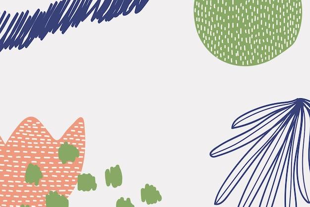Streszczenie kwiatowy tło memphis w kolorowej zieleni