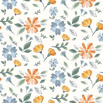 Streszczenie kwiatowy wzór z ręcznie rysowane, modne ręcznie rysowane tekstury