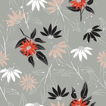 Streszczenie kwiatowy wzór