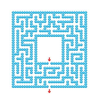 Streszczenie labirynt. gra dla dzieci. puzzle dla dzieci. styl kreskówkowy. zagadka labiryntu.