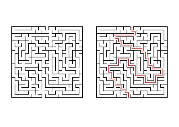 Streszczenie labirynt kwadratowy.