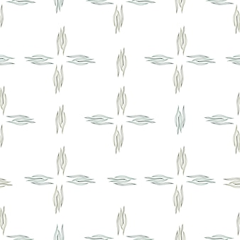 Streszczenie linia botaniczna kształtuje wzór na białym tle. tapeta natura. projekt na tkaninę, nadruk na tkaninie, opakowanie, okładkę. ilustracja wektorowa.