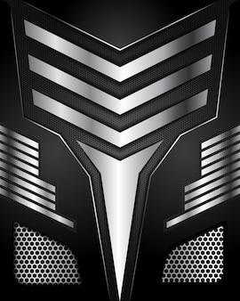 Streszczenie linii kierunek na sześciokąt siatki projektu nowoczesne luksusowe futurystyczne tło
