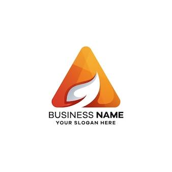Streszczenie list szablon logo kolorowe gradientu