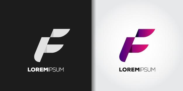 Streszczenie listu f zestaw marki logo