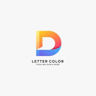 Streszczenie listu kolorowe logo gradientu s.