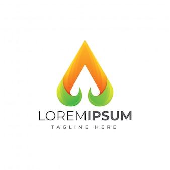 Streszczenie listu logo szablon