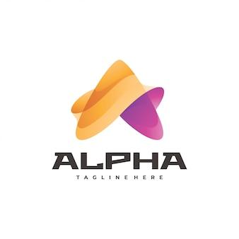 Streszczenie listu logo trójkąta lub strzałki