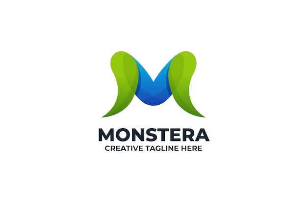 Streszczenie litera m kolorowe logo