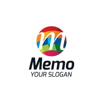 Streszczenie litera m logo