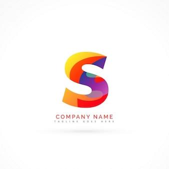 Streszczenie litera s kształt logo projektu
