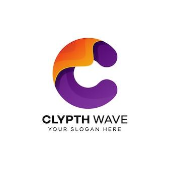 Streszczenie litery c logo wektor szablony