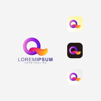 Streszczenie litery q logo