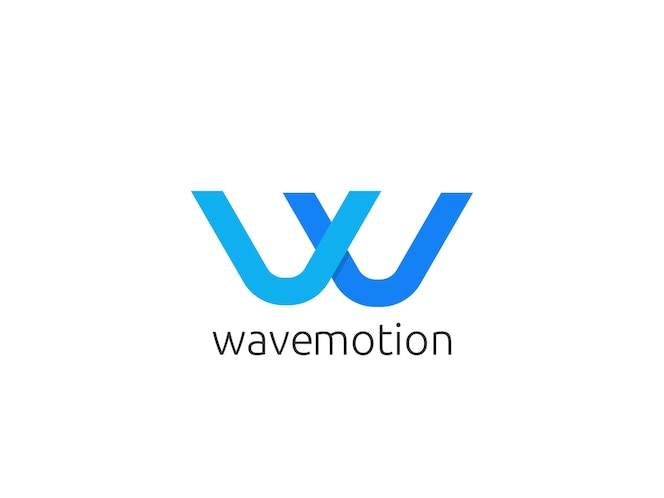 Streszczenie litery w logo ikona szablon