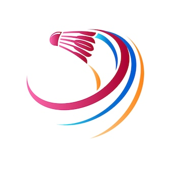 Streszczenie logo badmintona