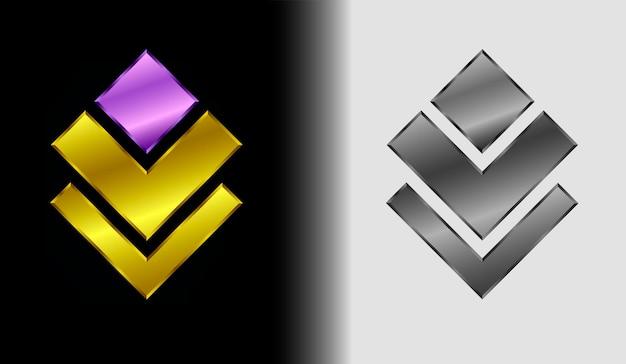 Streszczenie logo dla biznesu, kolor logo kątowe i czarno-białe, koncepcja kreatywny logotyp firmy, ilustracji wektorowych