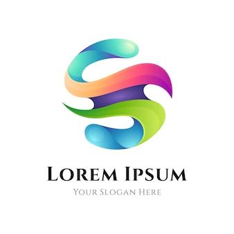 Streszczenie logo gradientu litery s