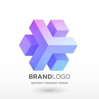 Streszczenie logo gradientu