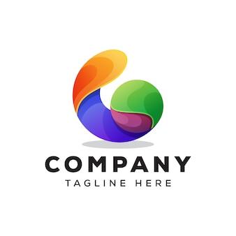Streszczenie logo kolorowe litery g.